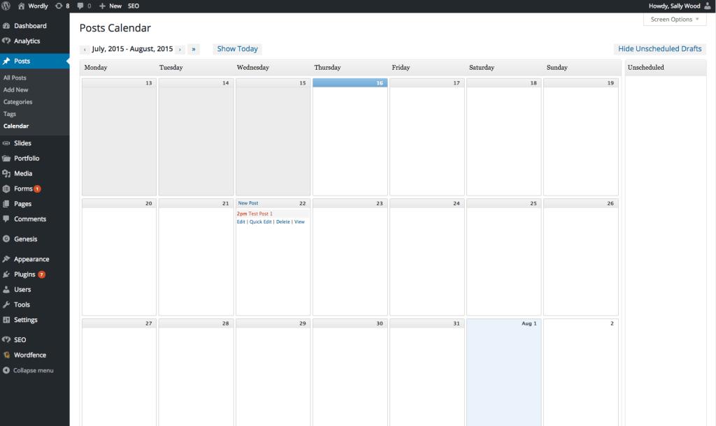 WP Plugins - Editorial Calendar