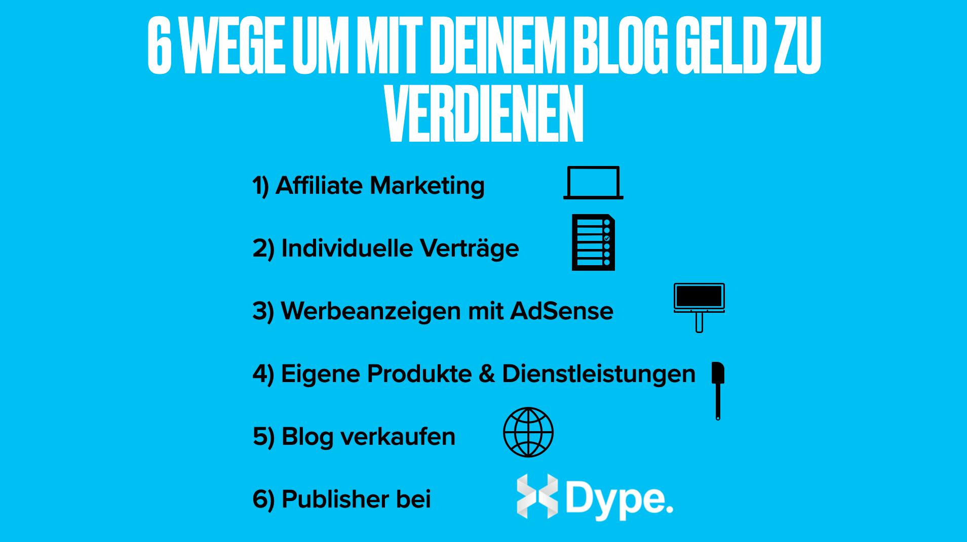 Mit Blog Geld verdienen Tipps